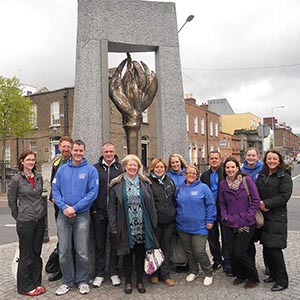 Peer Mentors travel to Dublin to visit NICDTF